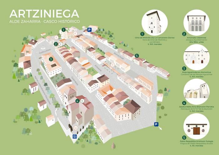 Artziniegako hirigune historikoko artearen eta ondarearen mapa osatu dute