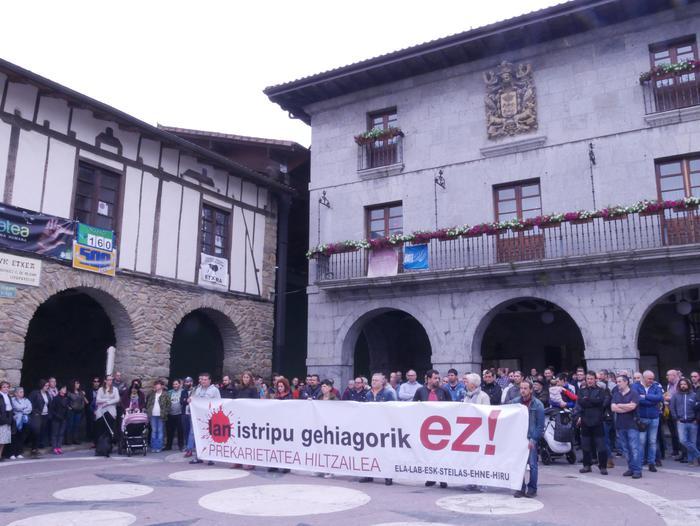 Hildako beharginaren lankideek lanuztea eta manifestazioa deitu dituzte Orozkon ekainaren 12an
