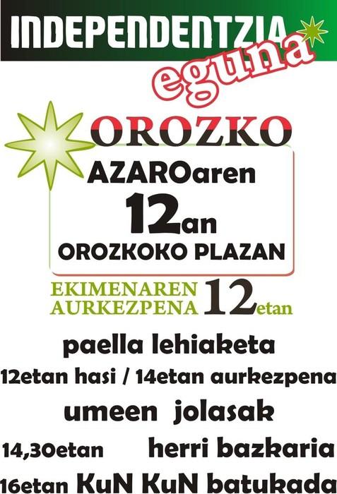 Independentzia Eguna Orozkon