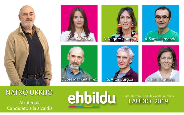 Udal hauteskundeetarako zerrenda aurkeztu du Laudioko EH Bilduk