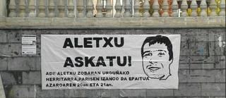 Aletxu Zobaranek borrokaldia berriro hasi eta elkartasuna eskatu du Valenceko espetxetik