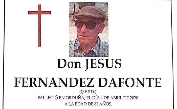 Jesus Fernandez Dafonte omentzeko txalokada deitu dute gaur 18:00etan
