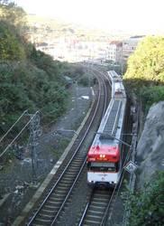Urduña eta Amurrio arteko tren zerbitzua eten dute tren bat bidetik irten ondoren.