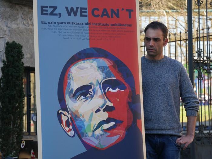 """""""Ez, we can´t"""" kanpaina aurkeztu dute, udal-hauteskundeetan hizkuntza eskubideen urraketak salatu eta alderdi politikoei konpromiso errealak eskatzeko - 20"""