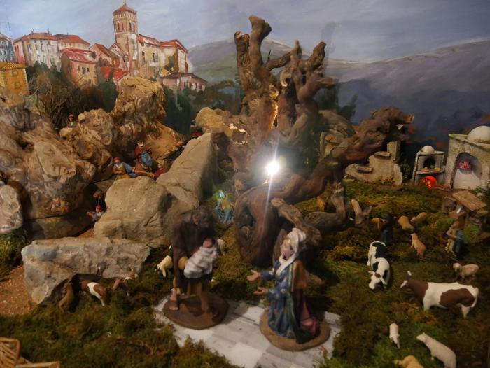 ONCE erakundearen omenezko lana jarri dute Santxotena Museoko Munduko Belenen Erakusketan - 9