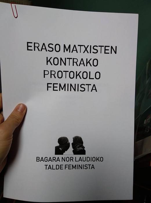 Eraso matxisten aurkako protokoloa aurkeztuko du Bagara Nor taldeak asteazkenean