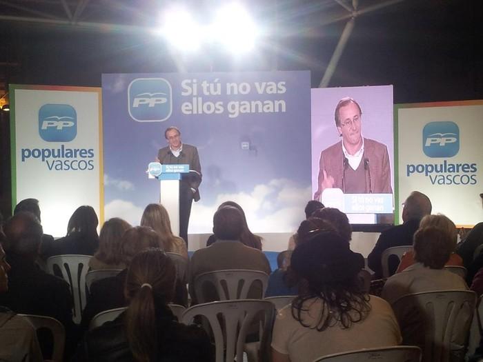 """Alfonso Alonso: """"Euskadi Espainian inbidia eta Europan erreferentzia izateko bozkatu behar da PP"""" - 1"""