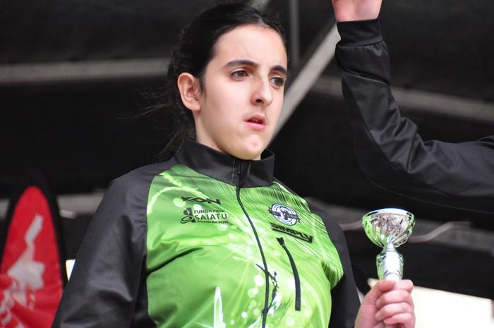 Olaia Gurrutxaga bigarren, ibilbide moldatuko Euskadiko Txapelketan