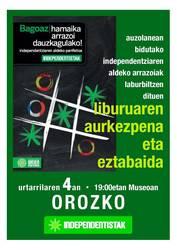 """""""Bagoaz, hamaika arrazoi ditugulako!"""" liburuaren aurkezpena Orozkon"""