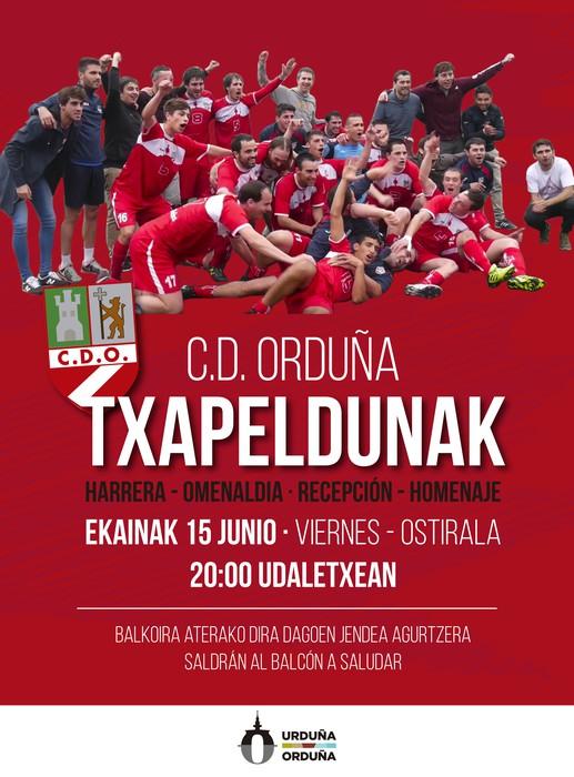 Urduñak CD Orduña taldea omenduko du Erregional 2. mailara igo ondoren