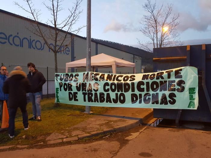 "Greba mugagabean daude Tubos Mecánicos Norte lantegian, ""lan baldintza duinen alde"""