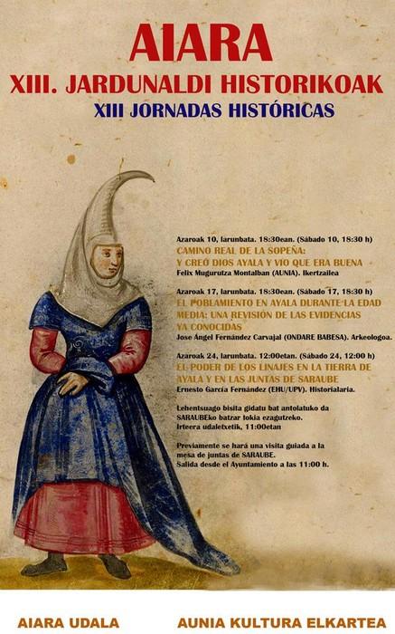 Asteburu honetan hasiko dira Aiarako XIII. Jardunaldi Historikoak