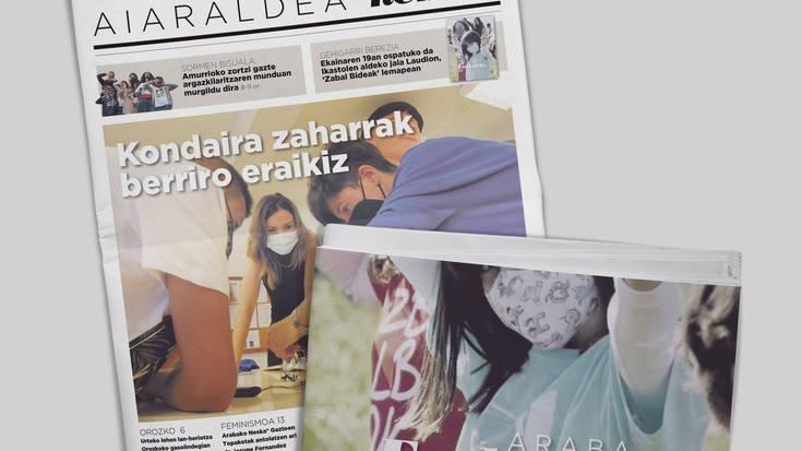 'Mariaka Indartsuari' buruzko Zaraobe Institutuko proiektua eta Araba Euskaraz jaiari buruzko gehigarri berezia dira hamabostekariren zenbaki berriko protagonistak