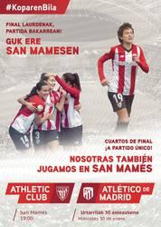 San Mamesen Athletic-Athletico de Madrid Kopako partida ikusteko sarrera laukoitzak
