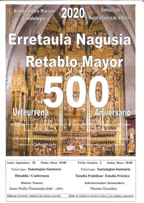 Arteko Andra Mariren erretaula nagusiaren 500. urteurrena