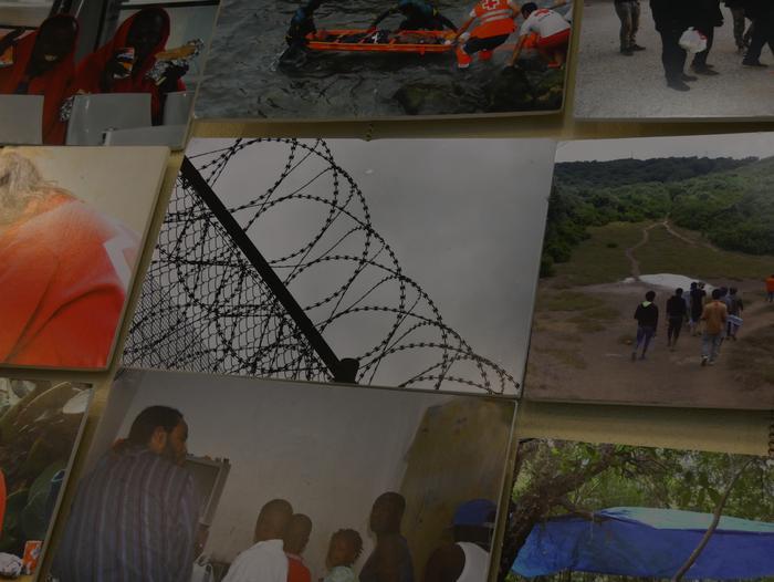 Errefuxiatuei buruzko erakusketa jarri dute Otueta Gizarte Etxean - 3