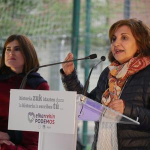 Elkarrekin Podemoseko hautagaiek gogor kritikatu zuten EAJ atzo
