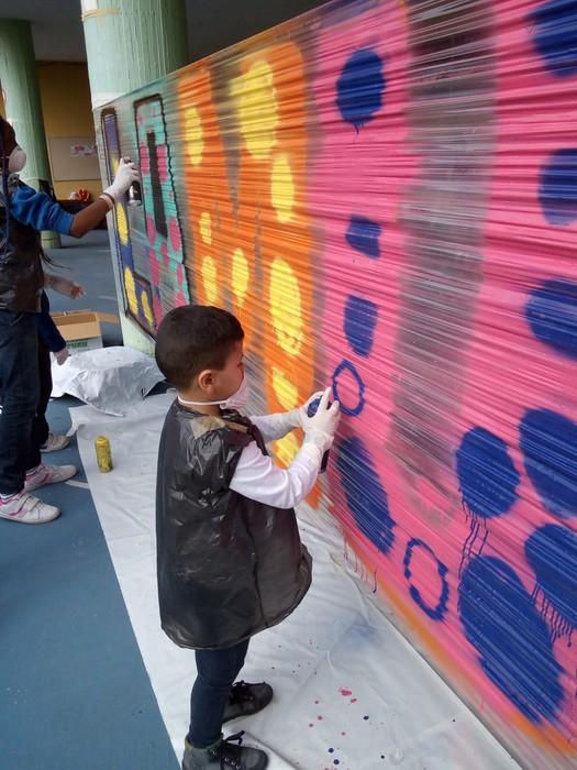 Graffiti tailerra burutu dute Lamuza Ikastetxean - 11