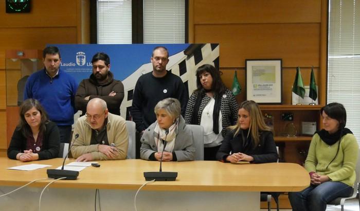 """Euskararen aldia """"egunero"""" dela aldarrikatu dute Laudioko Udaleko ordezkari politikoek"""