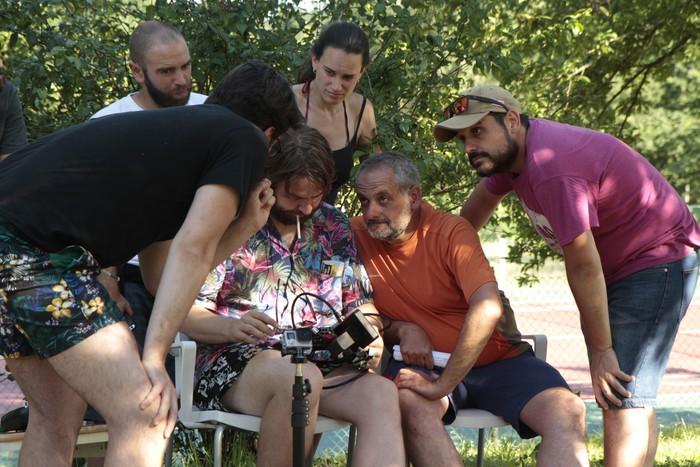 """""""El jardín de Vero"""" film laburra grabatzen ari dira Lezaman"""