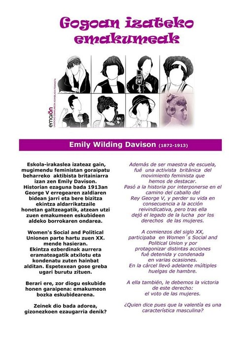Emily Wilding Davison 1/8