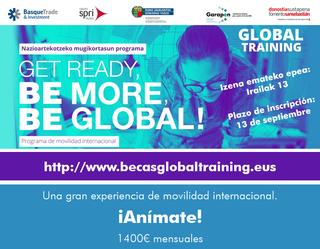 Ireki da Global Training bekak eskatzeko epea, atzerrian praktikak egiteko.