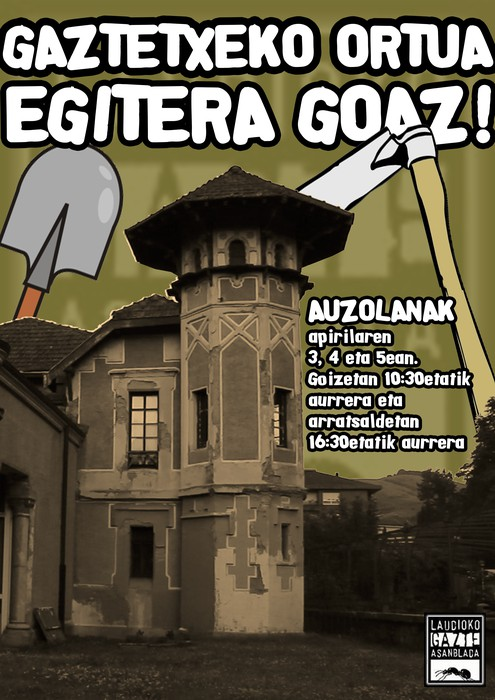 Laudioko Gaztetxean ortua egitera goaz!