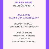Nola landu feminismoa Artziniegan?