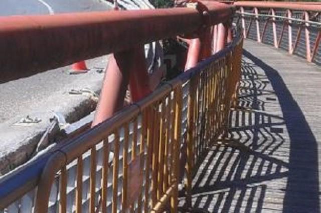 Nerbioiko Parke Linealeko pasarela ireki dute berriro, kamioiaren istripuaren ondorioz itxi eta gero