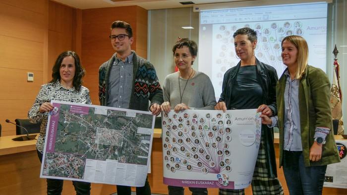Amurriok euskararen mapa aurkeztu du, inplikatutako 91 eragilerekin