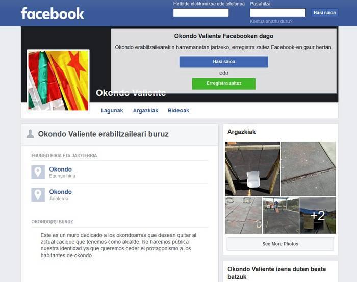 Facebookeko erabiltzaile baten irainak salatu ditu Okondo Aurrerak Ertzaintzan