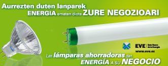 Energia-kontsumoa murrizteko lanparak banatu dira saltokietan