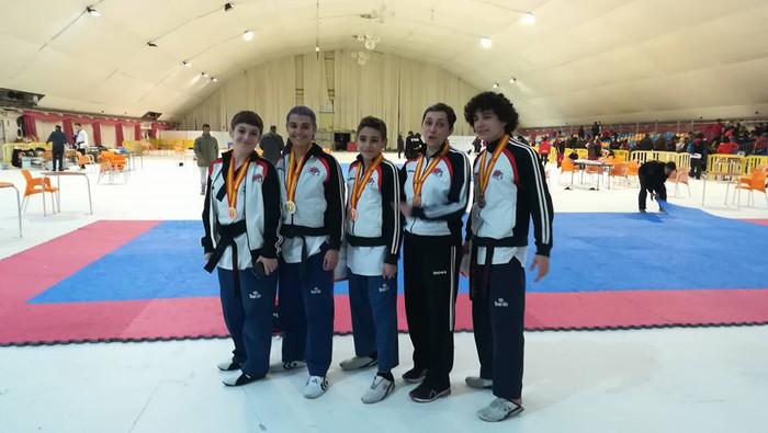 5 domina lortu ditu Laudioko Taekwondo Klubak Espainiako taldekako txapelketan