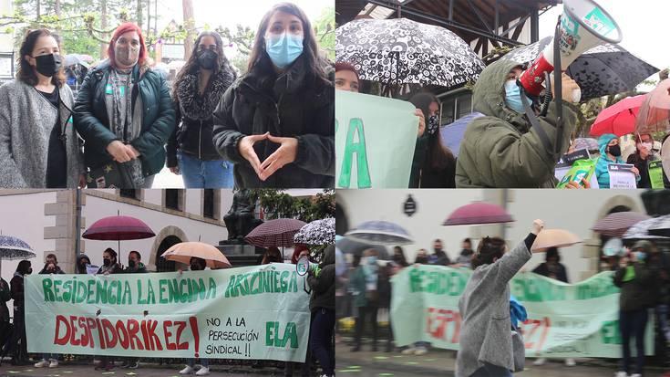 Kaleratzeen aurka mobilizatzen hasi dira La Encina egoitzako langileak