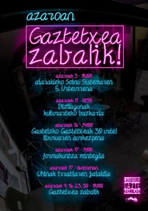 Laudioko Gaztetxea ostiralero zabalik!