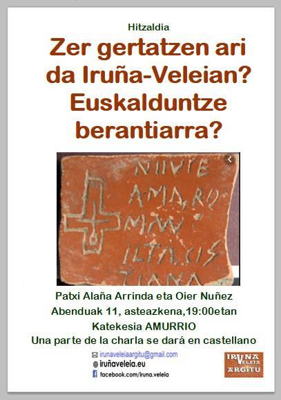 Iruña-Veleiari buruzko hitzaldia