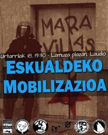 Maravillas gaztetxearen aldeko eskualdeko mobilizazioa gaur arratsaldean Laudion