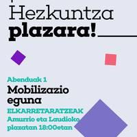 Hezkuntza plazara!
