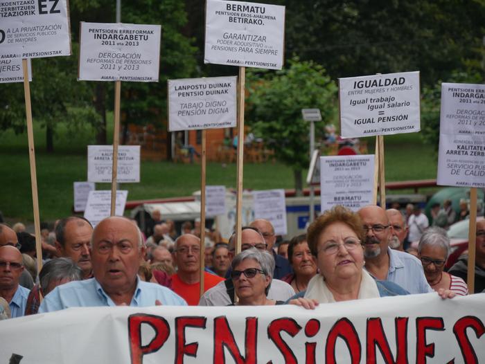 Aiaraldeko pentsionistek manifestazioa egingo dute larunbatean Laudion
