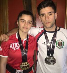 Izaro Blanco da Espainiako Kick Boxingeko Light eta Point Contacteko txapelduna, eta Iker Blanco bigarrena