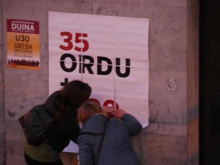 Amurrioko herriguneko jarduera ekonomikoa gelditu du grebak arratsaldean - 40