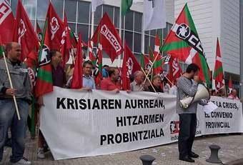 Arabako sindikatuek mobilizazioak hasi dituzte metalgintzako hitzarmenaren alde