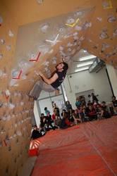 Maila handiko eskalatzaileak Amurrioko Boulderrean