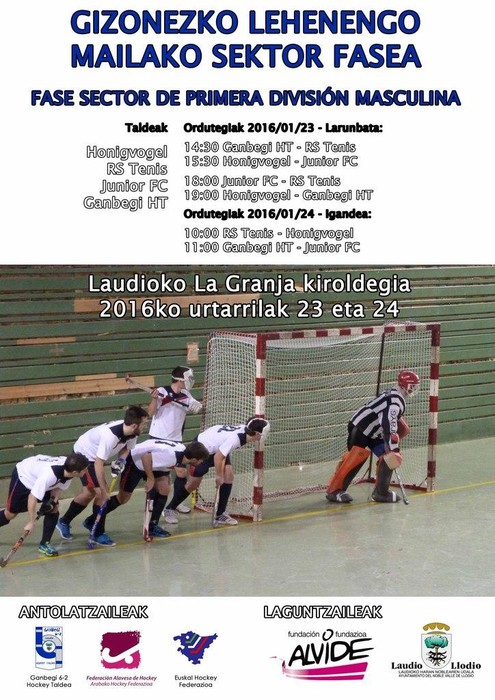 Ganbegi Hockey Taldeak Espainiako Sektor Fasea jokatuko du asteburuan kiroldegian
