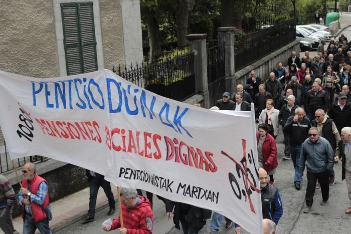 Eskualdeko manifestazioa deitu dute Aiaraldeko pentsionistek