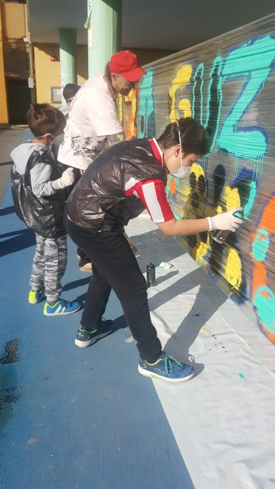 Graffitia egin zuten atzo Lamuza Ikastetxean - 5