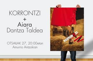 Aiara Dantza Taldea Korrontzi taldearekin batera arituko da Amurrio Antzokian