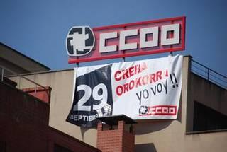 CCOO eta UGT sindikatuek greba eguna deitu dute gaur