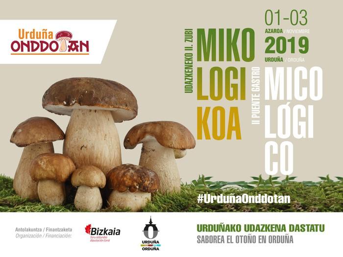 Urduña Onddotan' mikologia-asteburuaren 2. edizioa hartuko du hiriak