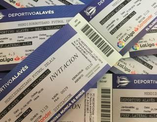 Alaves-Valladolid futbol partidarako 4 sarrera bikoitz